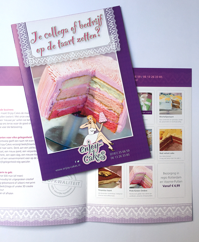 Copywriting Enjoy-Cakes bedrijfsbrochure